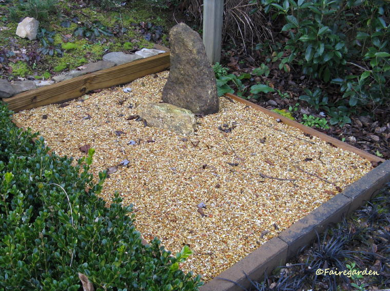 Another Project Completed Last Year Was The Installation Of A Gravel Zen  Garden.