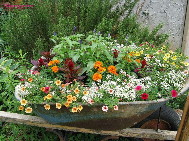 Small Wheelbarrow Planter Plans